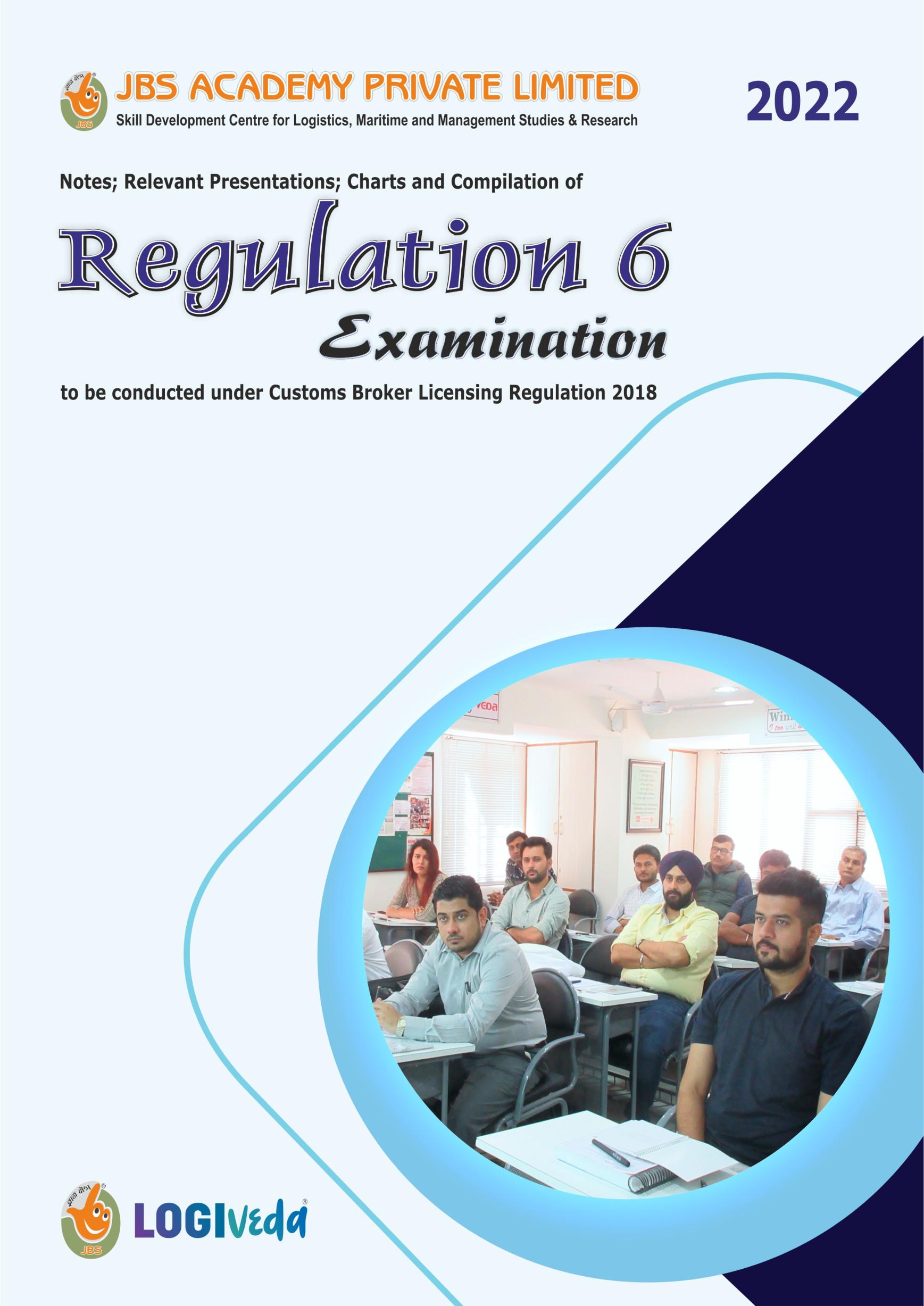 SET OF 9 STUDY BOOK FOR REGULATION 6 CUSTOMS BROKER EXAMINATION - FOR MARCH 2022